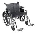 Bariatric Wheelchair Sentra EC Heavy Duty Padded Removable Desk Arm Mag Black 24 Inch 450 lbs. (1 EA) (Drive Medical STD24ECDDA-SF)
