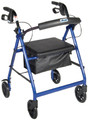 4 Wheel Rollator drive Silver Folding Aluminum (1 EA) (Drive Medical R726SL)