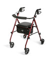 4 Wheel Rollator Freedom Burgundy Ultra Lightweight 29.5 to 36 Inch (Case of 1) (Medline MDS86825SLR)