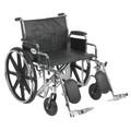 Bariatric Wheelchair Sentra EC Heavy Duty Padded Removable Desk Arm Mag Black 24 Inch 450 lbs. (1 EA) (Drive Medical STD24ECDDA-ELR)