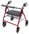 Bariatric 4 Wheel Rollator Lumex Walkabout Burgundy Folding Aluminum (1 EA) (Graham-Field RJ4400R)