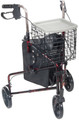 3 Wheel Rollator drive Deluxe Red 3 Wheel Aluminum (1 EA) (Drive Medical 10289RD)