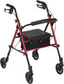 4 Wheel Rollator drive Blue Adjustable Height Aluminum (1 EA) (Drive Medical RTL10261BL)