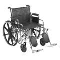 Bariatric Wheelchair Sentra EC Heavy Duty Padded Removable Desk Arm Mag Black 22 Inch 450 lbs. (1 EA) (Drive Medical STD22ECDDA-ELR)