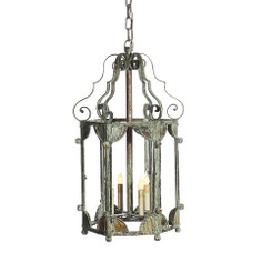 French Iron Matilda Lantern 4 Light