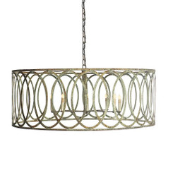 French Iron Charles Pendant 10 Light