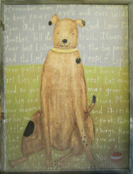 Sugarboo Designs Brown Dog Art on Wood