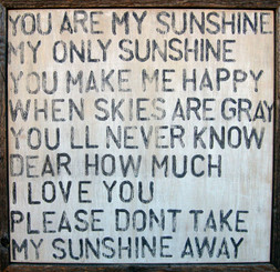 Sugarboo Designs You Are My Sunshine Art on Wood