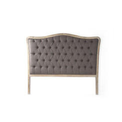 Zentique Maison Tufted Queen Headboard in Aubergine