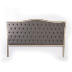 Zentique Maison Tufted King Headboard in Aubergine Linen