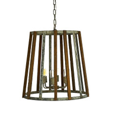 French Iron Maxwell 6 Light Chandelier Pendant