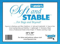 ByAnnie's Soft and Stable 100% Polyester Stabilizer 18in x 58in Black