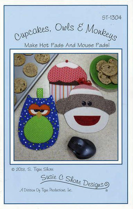 Cupcakes, Owls & Monkeys Hot Pads & Mouse Pads