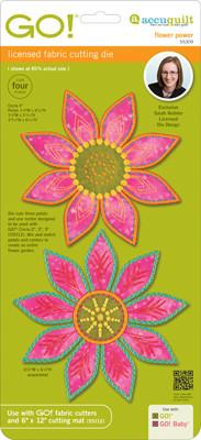 AccuQuilt GO! Die - Flower Power by Sarah Vedeler