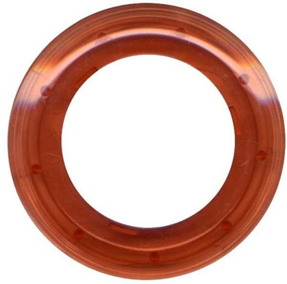 Grommets 40mm Round 8/pkg Clear Rootbeer