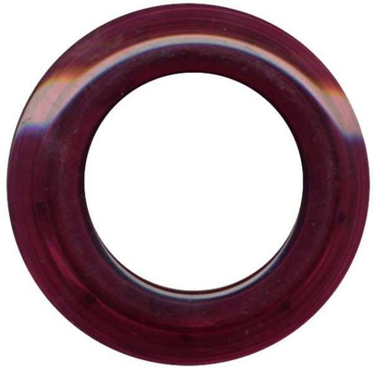 Grommets 25mm Round 8/pkg Clear Burgandy