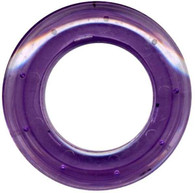 Grommets 25mm Round 8/pkg Clear Purple