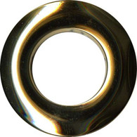 Grommets 25mm Round 8/pkg Shiny Gold