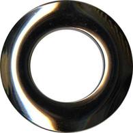 Grommets 25mm Round 8/pkg Shiny Gunmetal
