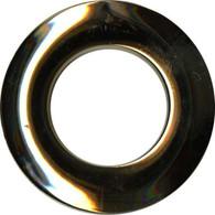 Grommets 25mm Round 8/pkg Shiny Brass