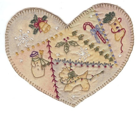 Vintage Ornaments Christmas - Heart