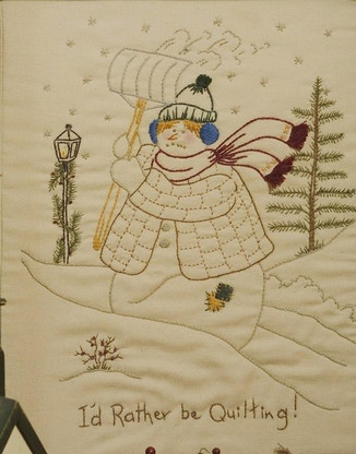 Quilting Snowladies - I'd Rather Be Quilting