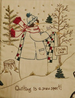 Quilting Snowladies - Quilting Is A Snow Sport