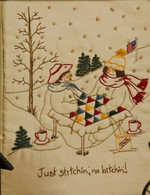 Quilting Snowladies - Just Stitching, No Bitching