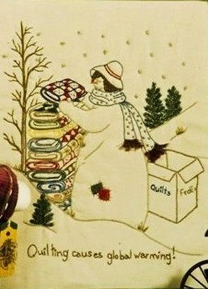 Quilting Snowladies - Quilting Causes Global Warming