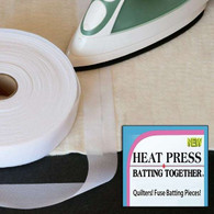 Heat Press batting Together 1 1//2in x 10yds Black 1-1//2 x 10 yd,