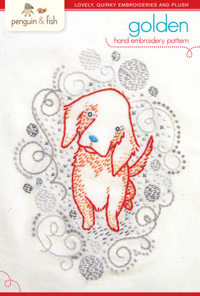 Golden Puppy Hand Embroidery