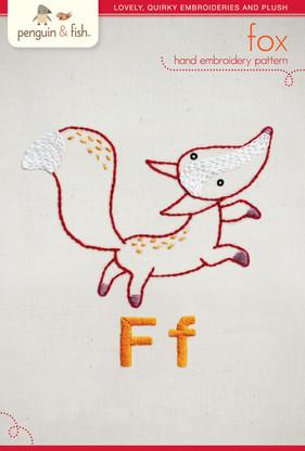 F Fox Hand Embroidery
