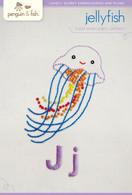 J Jellyfish Hand Embroidery