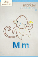 M Monkey Hand Embroidery