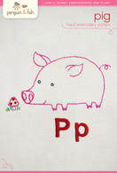 P Pig Hand Embroidery