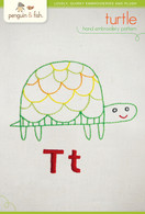 T Turtle Hand Embroidery