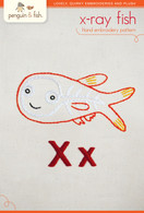 X Xray Fish Hand Embroidery