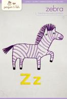 Z Zebra Hand Embroidery