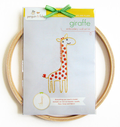 Giraffe Hand Embroidery Kit