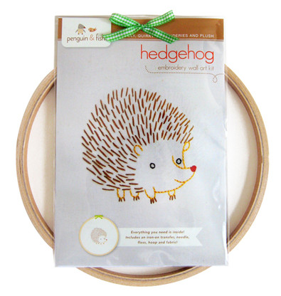 Hedgehog Hand Embroidery Kit