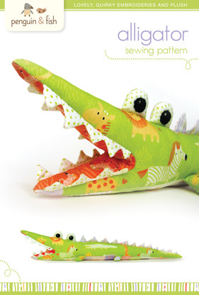 Alligator Plush Sewing Pattern