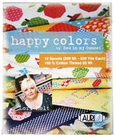 Aurifil Cotton 50 wt 10 Small Spools Lori Holt Happy Colors Thread Collection