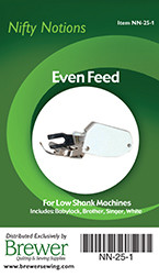 Even Feed Low Shank Foot