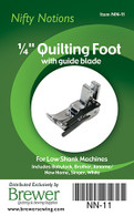 Quilting Foot 1/4in with Guide Blade