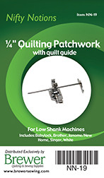 Quilting Patchwork Foot 1/4in with Quilt Guide