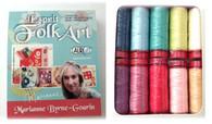 Aurifil Wool 12 wt 10 Small Spools Marianne Byrne Espirit Folk Art Thread Collection