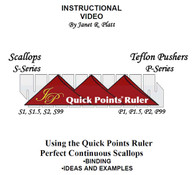 Instructional DVD For Quick Points Scallop Ruler