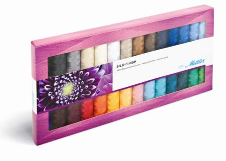 American & Efird Mettler Silk Finish Cotton Thread 28 Spool Gift Pack