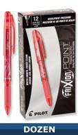 Frixion XF Erasable Gel Pen 12/pkg Red .05mm
