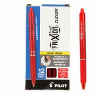 Frixion Clicker Gel Pen Fine Point 12/pkg Red .07mm